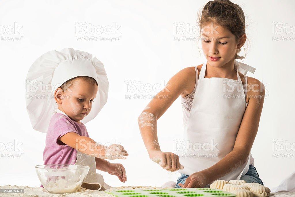 Cooks portrait stock photo