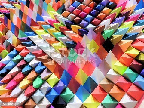 istock A cool abstract colorful modern background made with paper 854964022