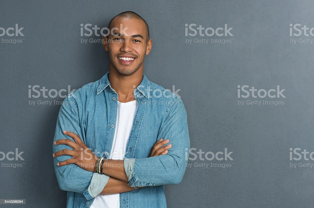 Cool african man stock photo