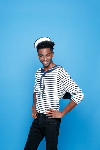 Cool Afro American Young Sailor Stock Photo - Download Image Now