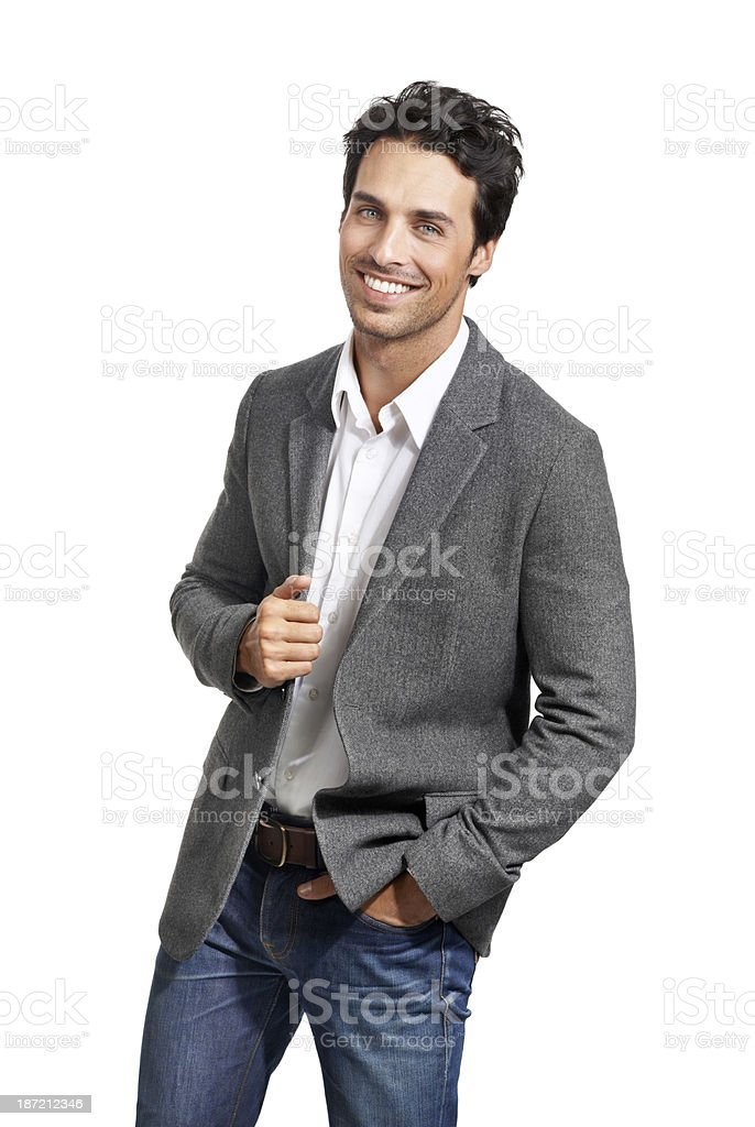 Cool and confident royalty-free stock photo