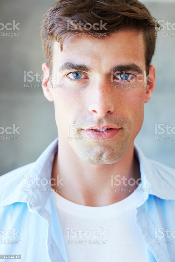 Cool and confident stock photo