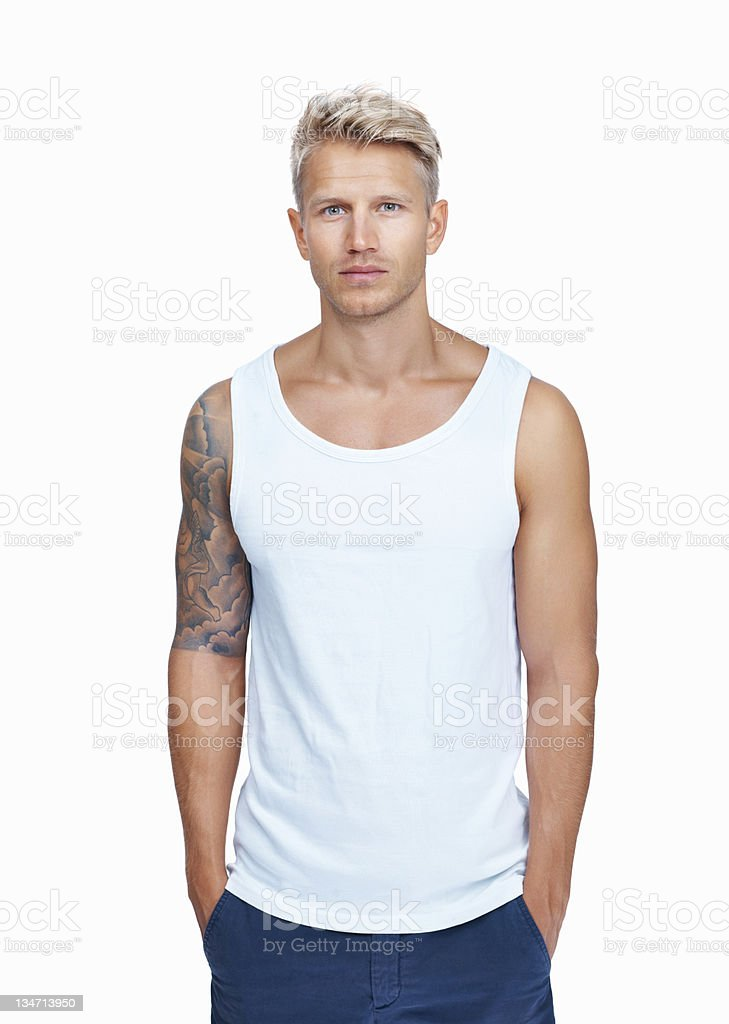 Cool and masculine stock photo