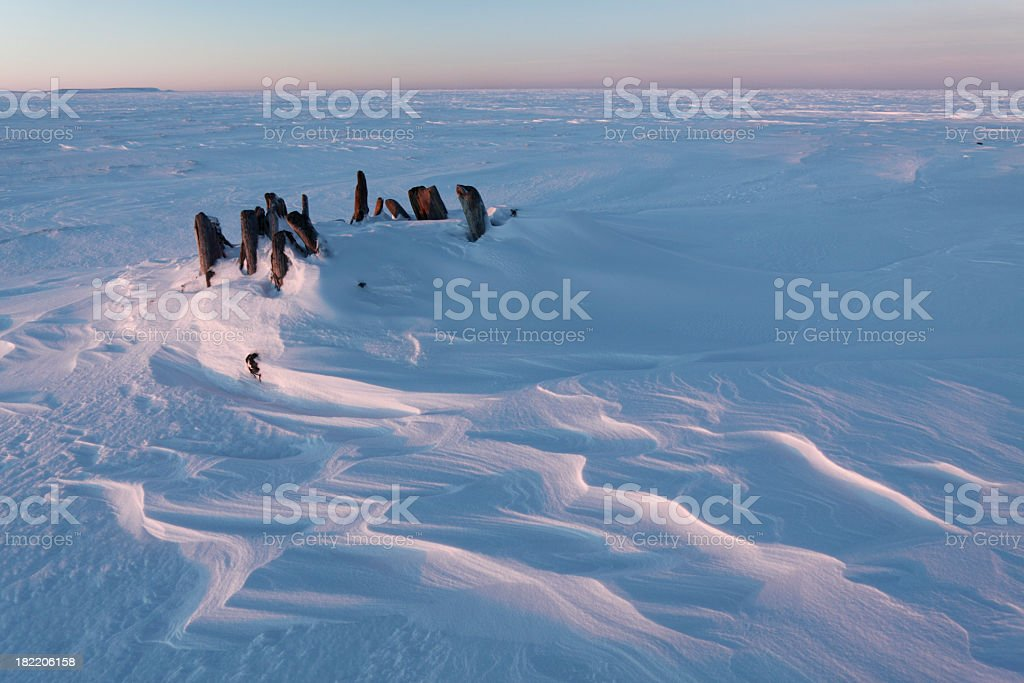 Cool Arctic sunset. royalty-free stock photo