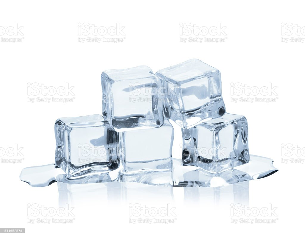 Cool as ice stock photo
