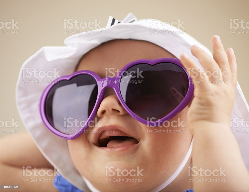 Cool baby stock photo
