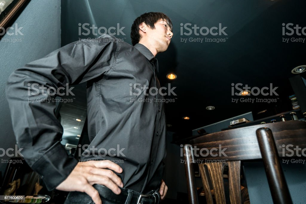 Cool bartender stock photo
