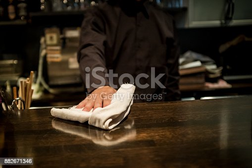 istock Cool bartender 882671346