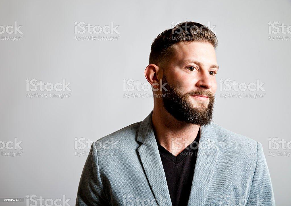 Cool Bearded Man stock photo