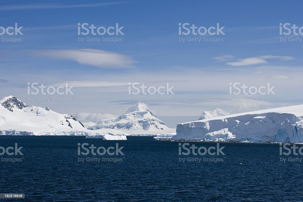 Cool Blue Antarctica royalty-free stock photo