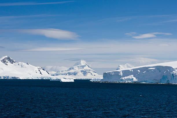 Cool Blue Antarctica stock photo