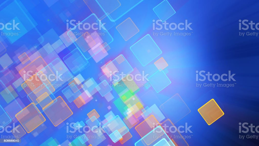 Cool Blue Color Motion Background With Animated Squares Light Ray Effect Stock Photo Download Image Now Istock