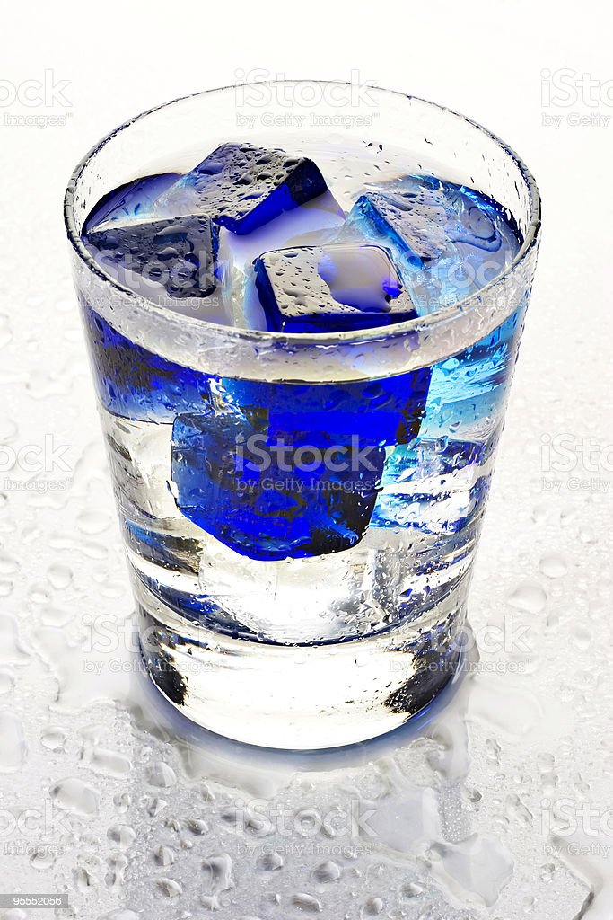 Cool blue cubes royalty-free stock photo