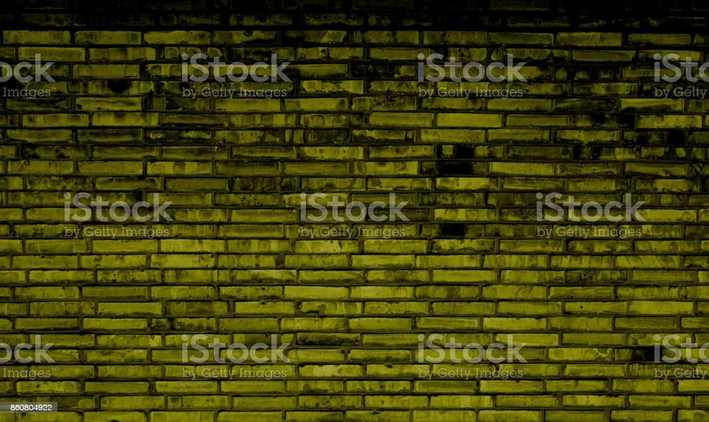 Cool urban brick wall background yellow and black