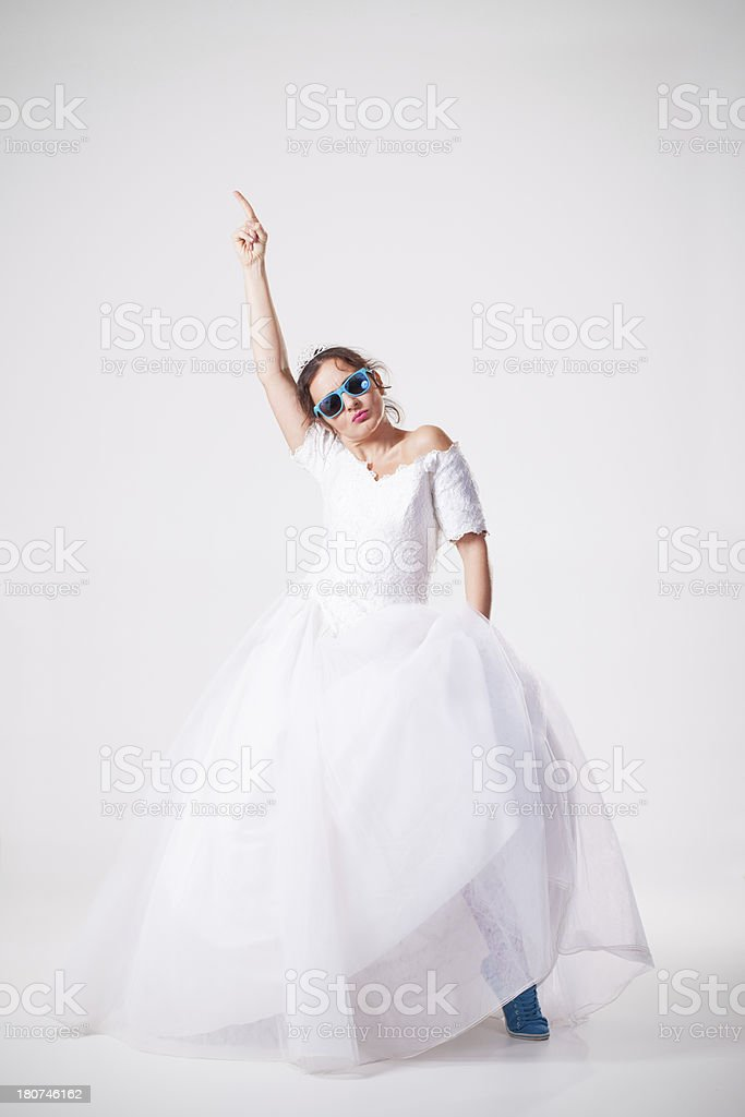 Cool bride royalty-free stock photo