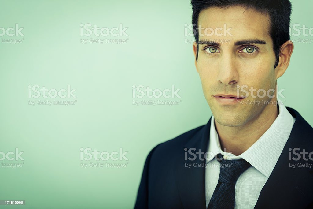 Cool businessman royalty-free stock photo