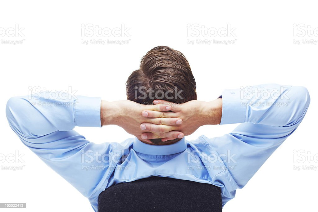 Cool, calm and collected stock photo