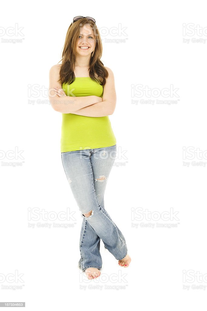 Cool Casual Teen stock photo