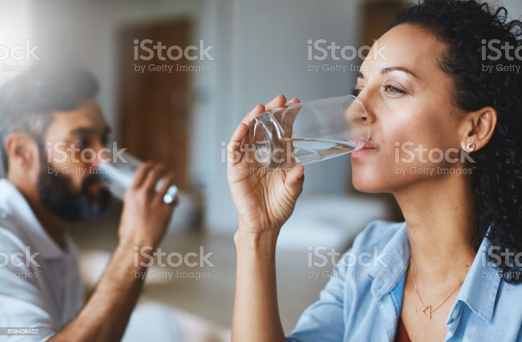 Cool, clean and refreshing stock photo