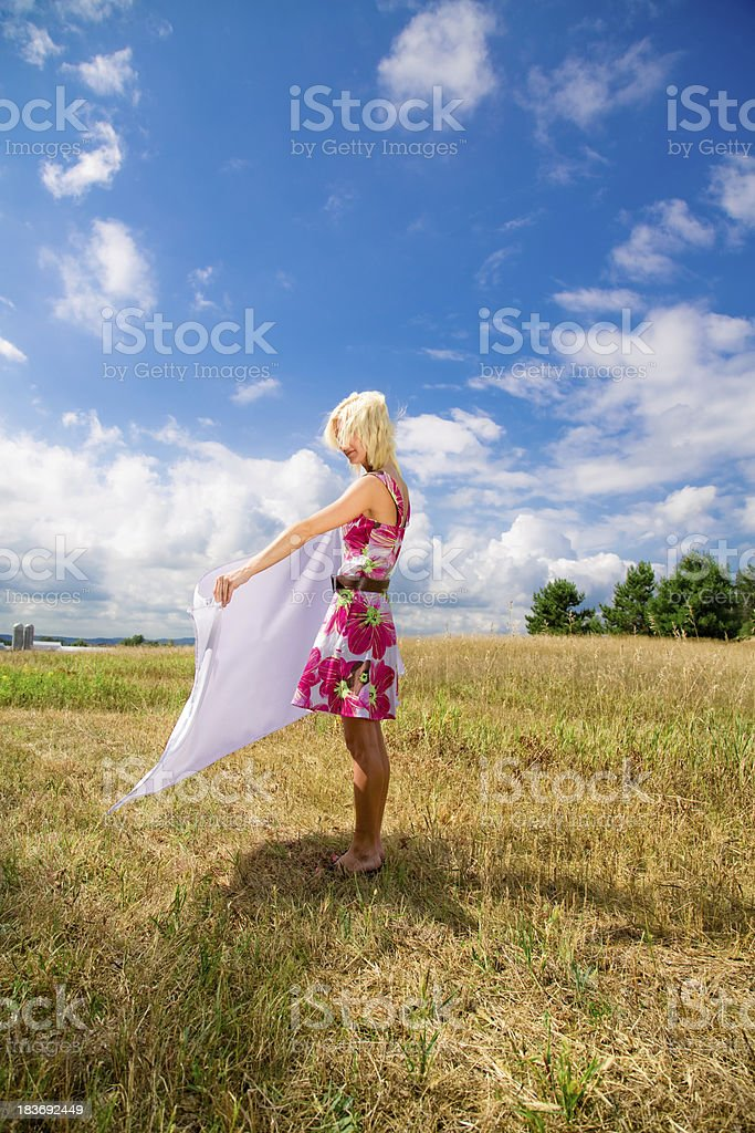 Cool Clean Fresh Air Sourrounding Beauty royalty-free stock photo