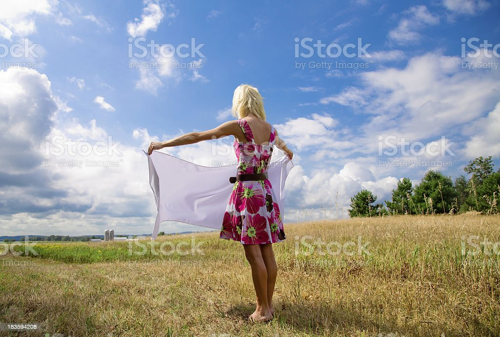 Cool Clean Fresh Air Surrounding Beauty royalty-free stock photo