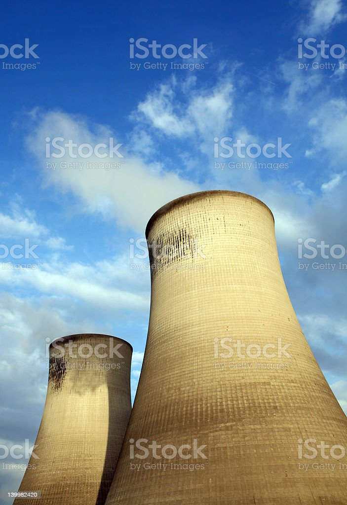 Cool Cooling Towers royalty-free stock photo