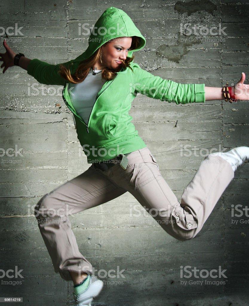 Cool dancing girl royalty-free stock photo