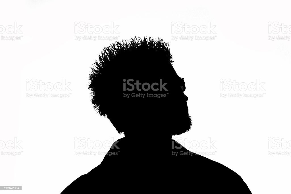 Cool Dude Silhouette stock photo