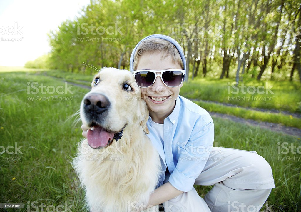 Cool friends royalty-free stock photo