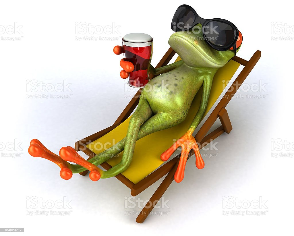 Cool frog stock photo