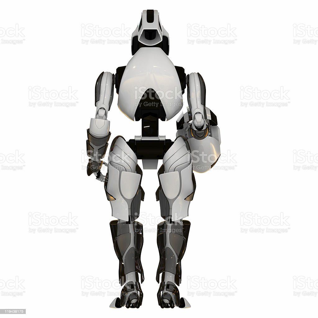 Cool futuristic warrior royalty-free stock photo