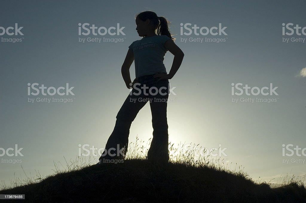 Cool girl stock photo