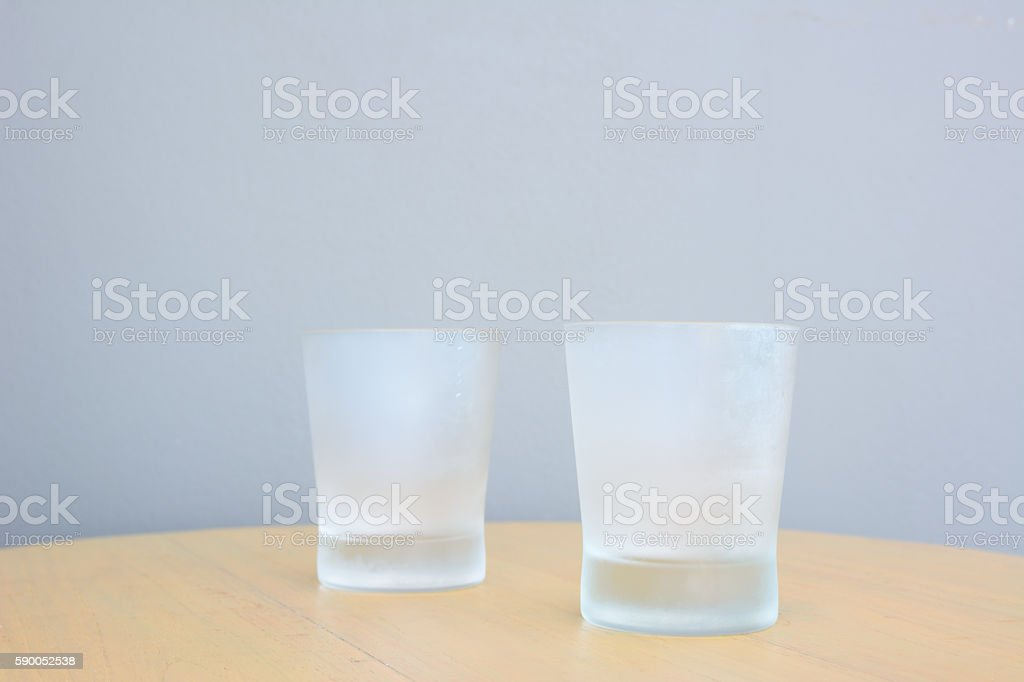 Cool Glass on table 2 stock photo