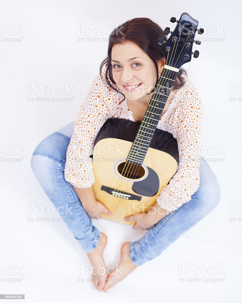 Cool guitar royalty-free stock photo