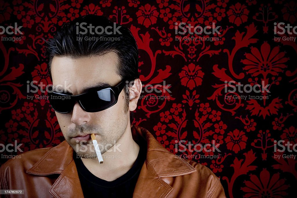 Cool guy stock photo