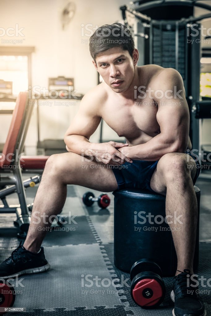 Cool Guy WorkOut stock photo