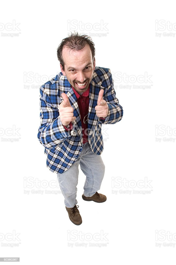 Cool Guy...he thinks royalty-free stock photo
