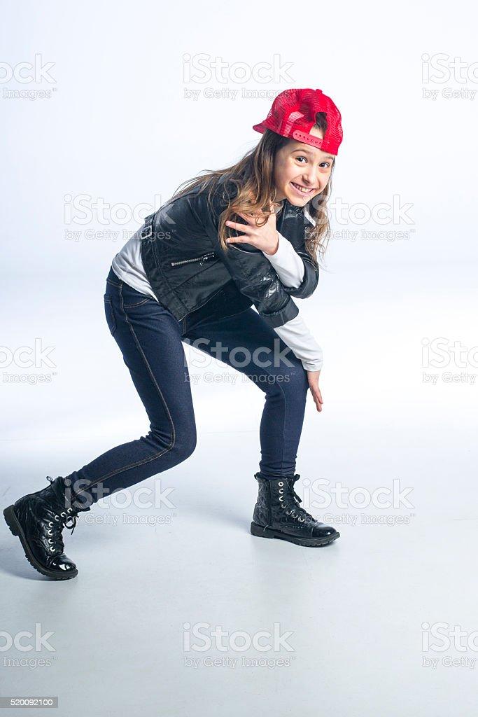 Cool hip hop girl stock photo