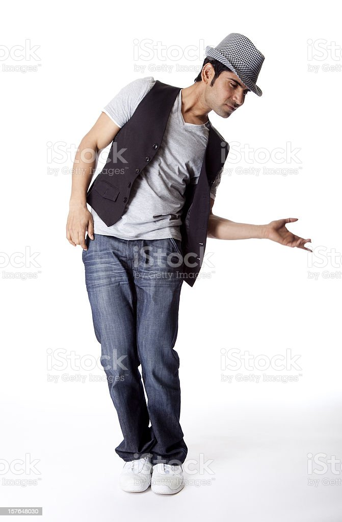 cool hip hop male dancer royalty-free stock photo