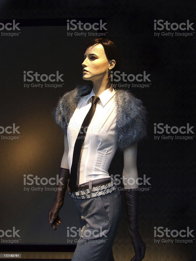 Cool, hot model royalty-free stock photo