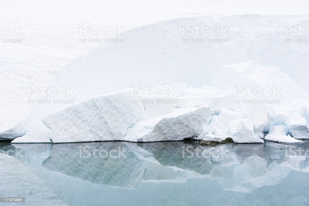 Cool Ice Reflection royalty-free stock photo