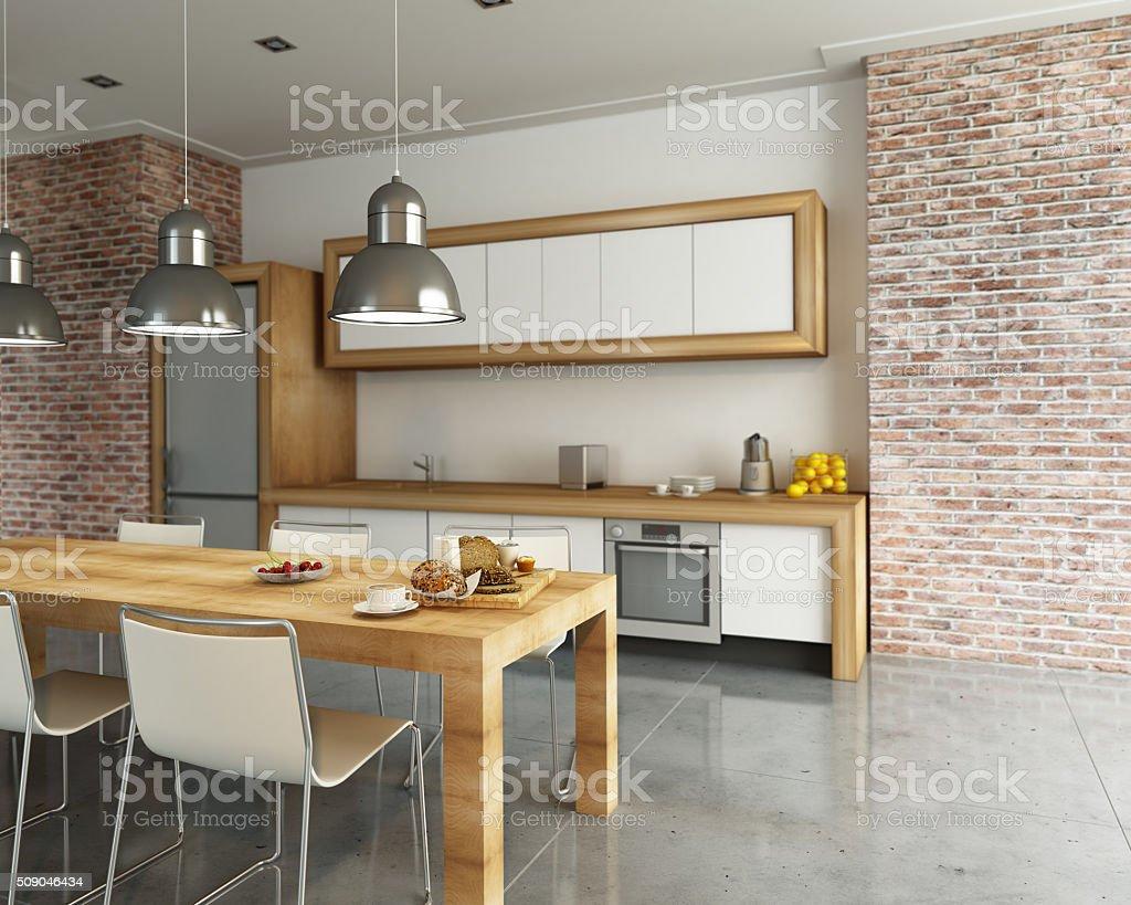 Cool kitchen stock photo