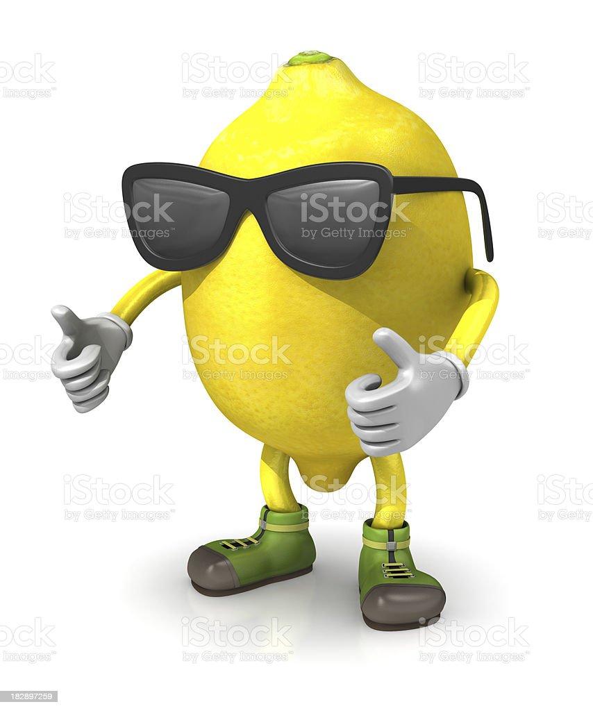 Cool Lemon Character royalty-free stock photo