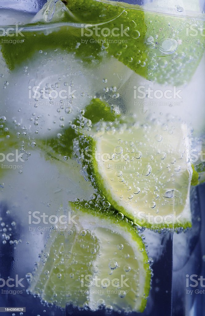 Cool lime drink detail royalty-free stock photo