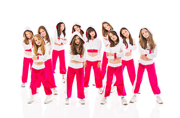 cool little dancers. - dance group stock photos and pictures