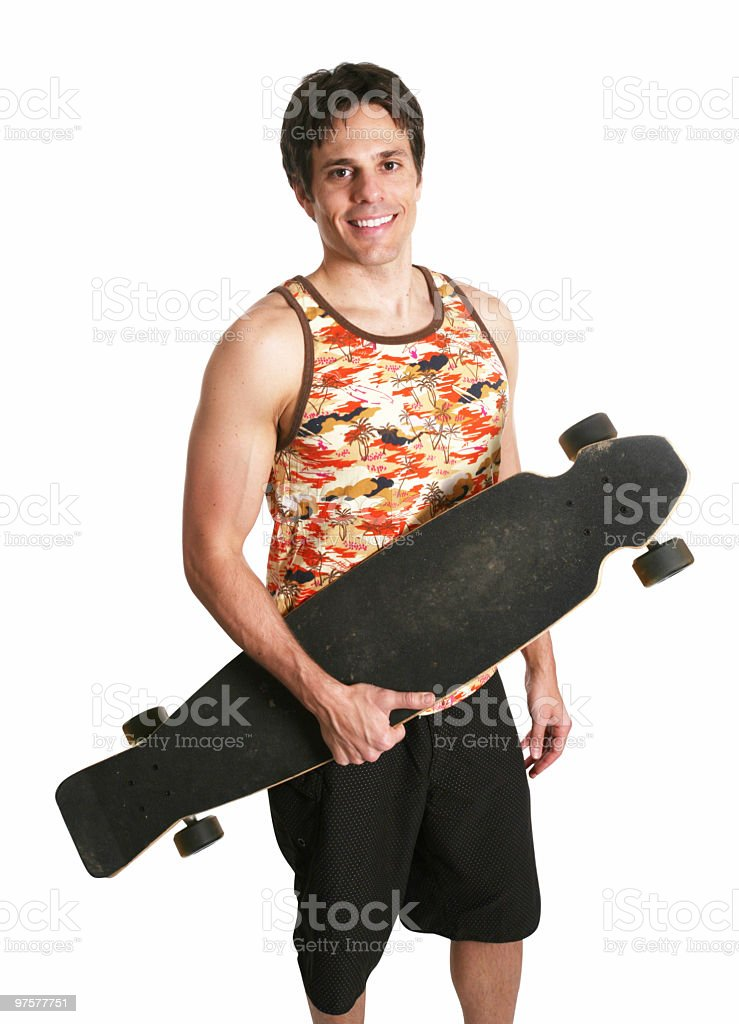 Cool longboarder royalty-free stock photo