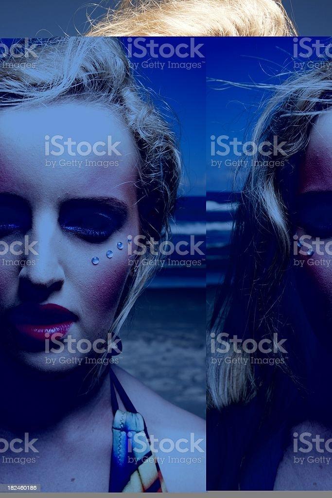 Enfriar para maquillaje foto de stock libre de derechos