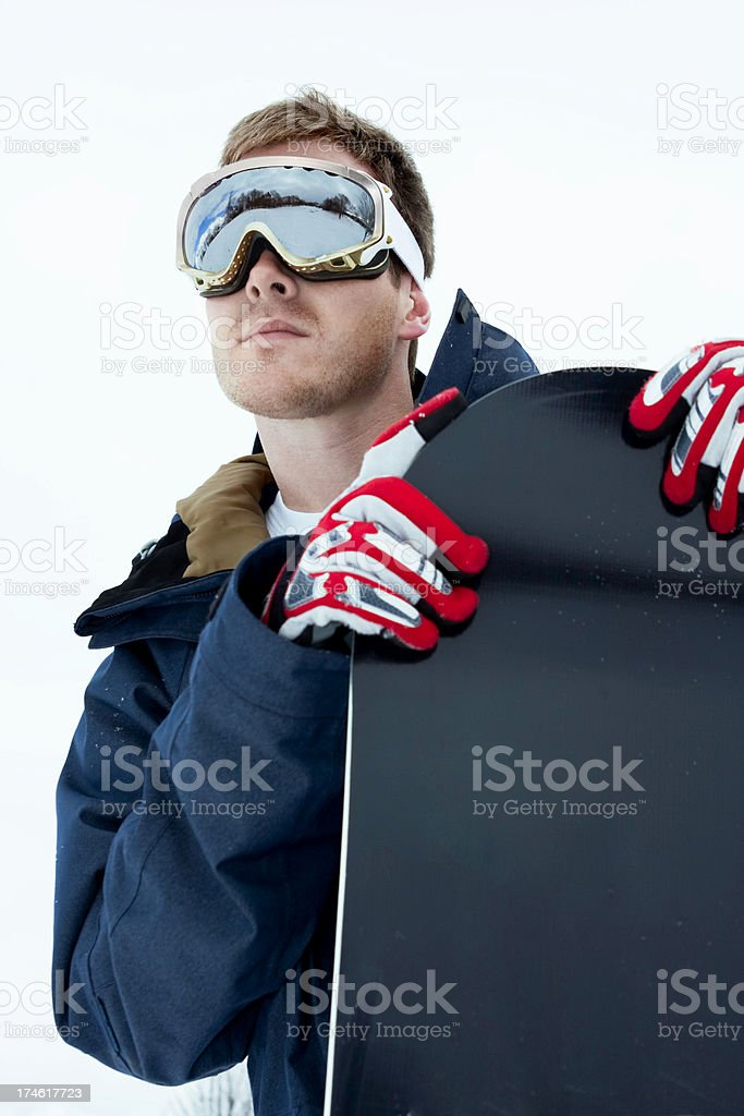 Cool Male Snowboarder royalty-free stock photo