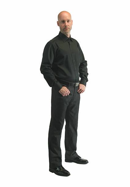 Cool man stock photo