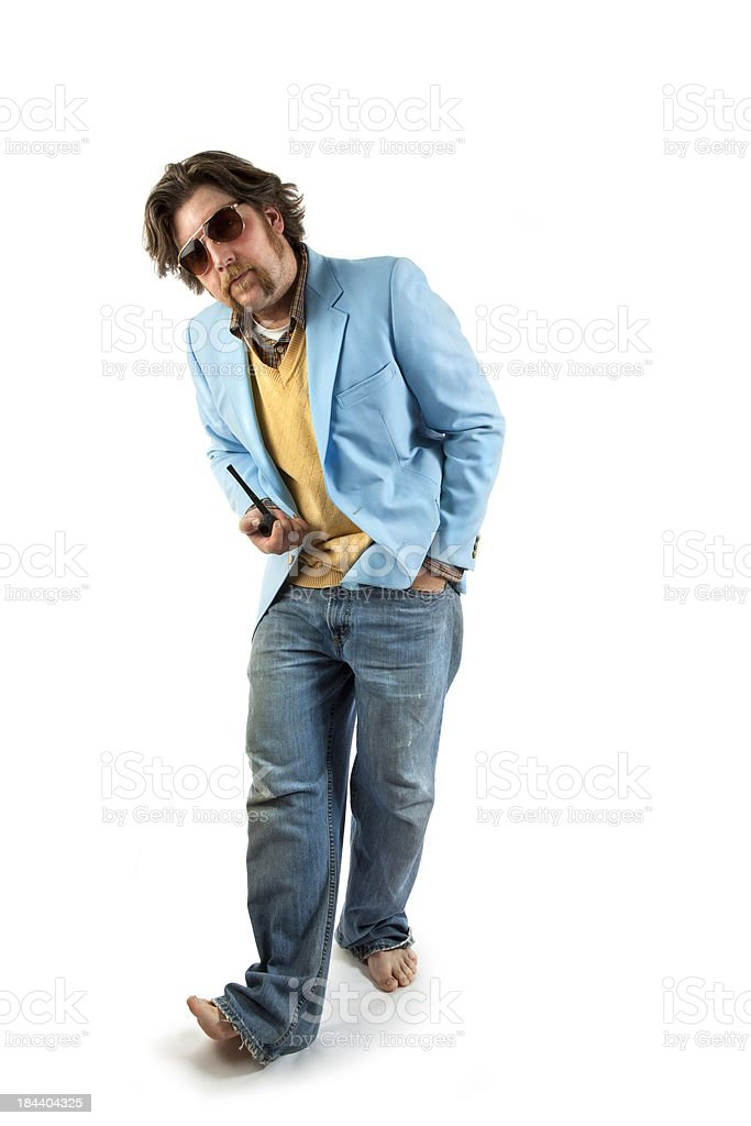 Cool Man Posing for Camera stock photo
